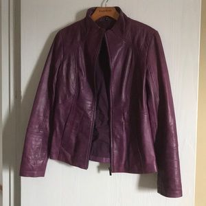Wilsons leather purple leather jacket